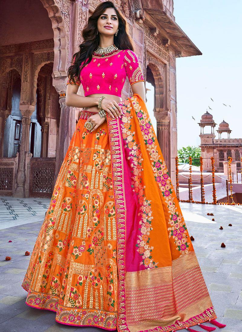 Banarasi Silk Trendy Designer Lehenga Choli