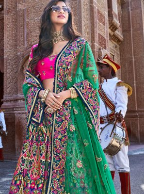 Banarasi Silk Trendy Lehenga Choli in Multi Colour
