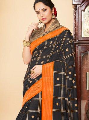 Banarasi Silk Weaving Black Traditional Saree
