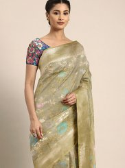 Banarasi Silk Weaving Grey Silk Saree