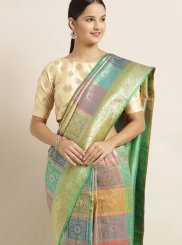 Banarasi Silk Weaving Multi Colour Designer Traditional Saree