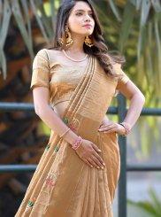Banarasi Silk Zari Gold Classic Saree