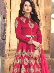 Banarasi Silk Zari Work Floor Length Anarkali Suit