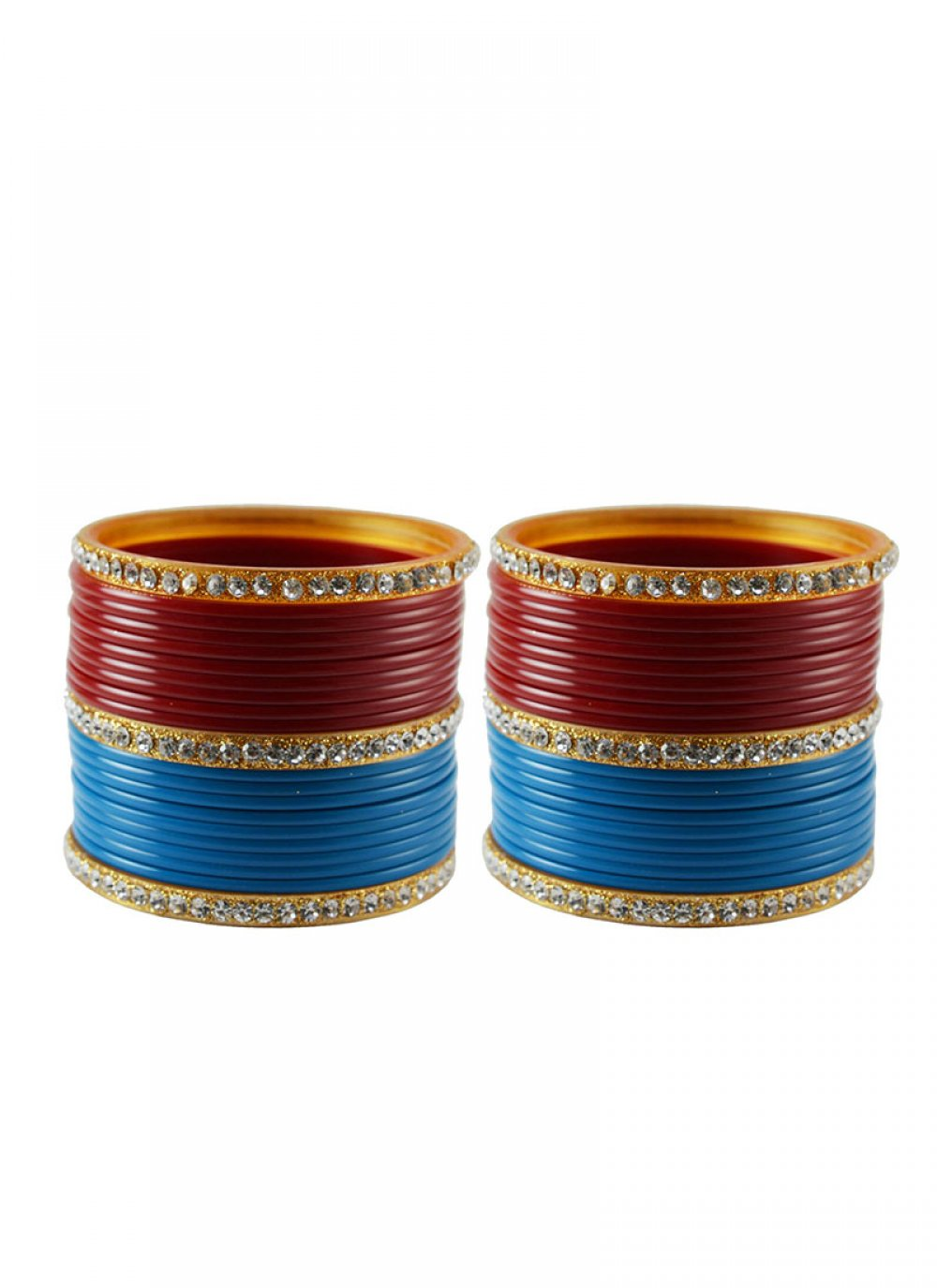 Bangles Stone Work in Firozi and Red