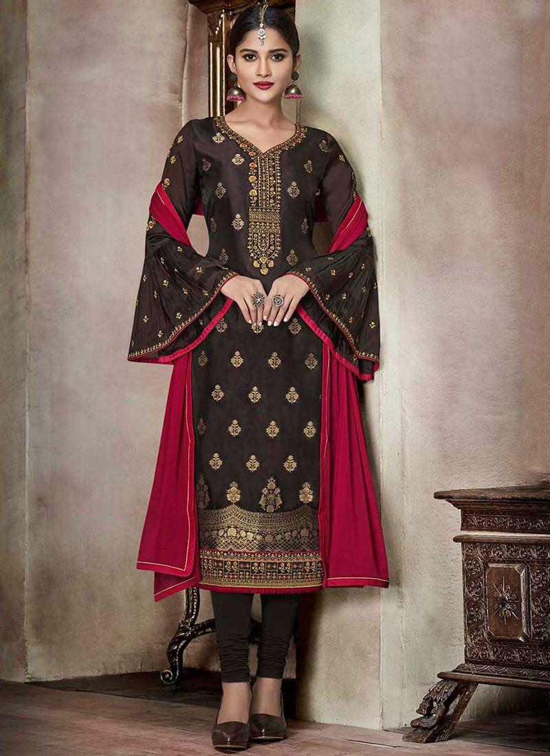 Banglori Silk Churidar Designer Suit