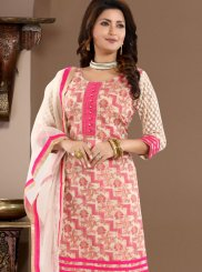 Banglori Silk Churidar Designer Suit in Pink