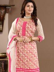 Banglori Silk Churidar Designer Suit in Pink