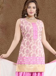 Banglori Silk Fancy Pink Readymade Suit