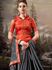 Banglori Silk Grey Designer Traditional Saree