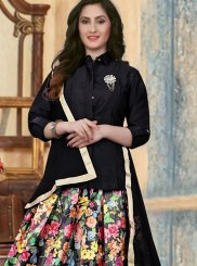Banglori Silk Lace Black Readymade Lehenga Choli