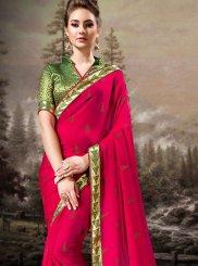 Banglori Silk Pink Designer Saree