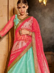 Banglori Silk Sea Green Designer Lehenga Choli