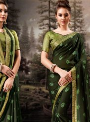 Banglori Silk Sea Green Lace Designer Traditional Saree