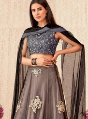 Beige and Grey Reception Trendy Designer Lehenga Choli