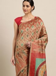 Beige Art Silk Festival Traditional Saree