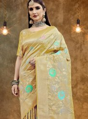 Beige Art Silk Party Classic Designer Saree