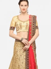 Beige Art Silk Trendy Lehenga Choli