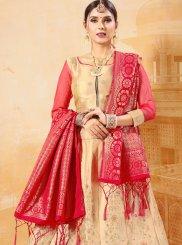 Beige Banarasi Silk Trendy Lehenga Choli