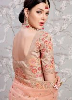 Beige Banglori Silk Wedding Lehenga Choli