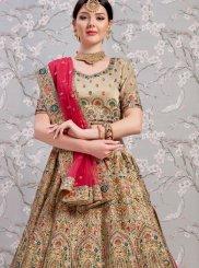 Beige Bridal Art Silk Lehenga Choli