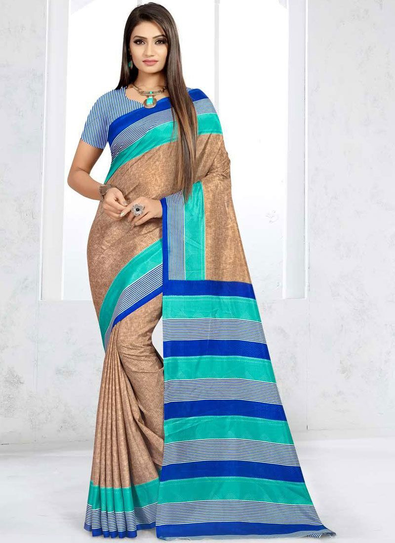 Beige Casual Traditional Saree