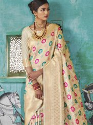 Beige Ceremonial Designer Saree