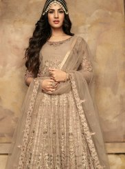 Beige Color Anarkali Suit