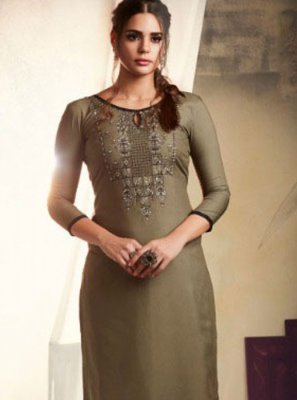 Beige Color Casual Kurti