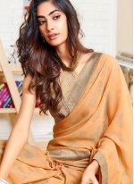 Beige Color Classic Designer Saree