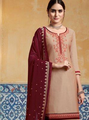 Beige Color Designer Patiala Salwar Kameez