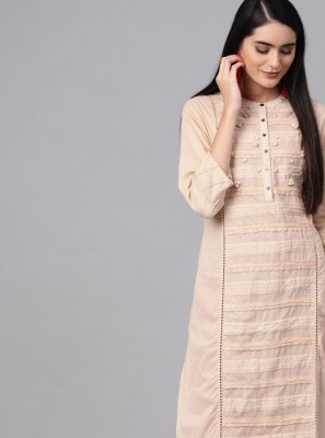 Beige Color Party Wear Kurti