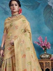 Beige Color Traditional Saree