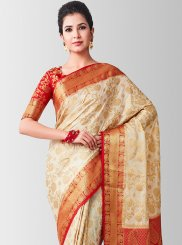 Beige Designer Traditional Saree