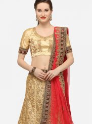 Beige Diamond Art Silk Trendy Lehenga Choli