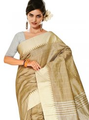 Beige Festival Designer Traditional Saree