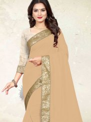 Beige Festival Silk Casual Saree