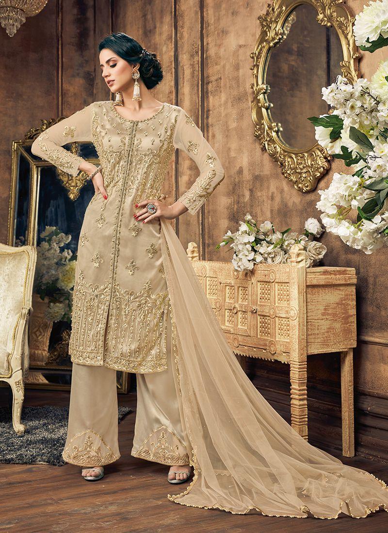 Beige Pakistani Suit