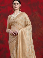 Beige Party Classic Designer Saree