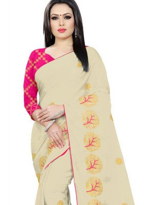 Beige Party Classic Saree