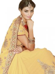 Beige Patch Border Party Classic Saree