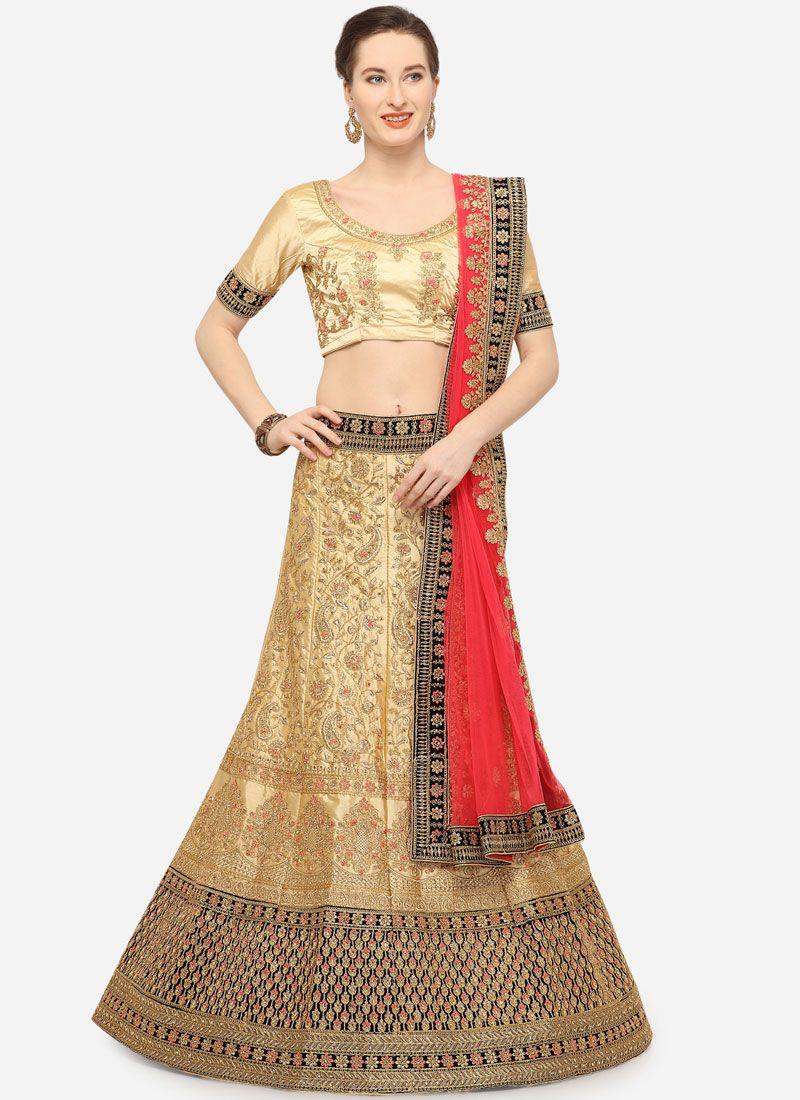Beige Sangeet Trendy Lehenga Choli