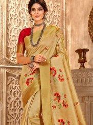 Beige Traditional Saree