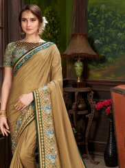 Beige Traditional Saree
