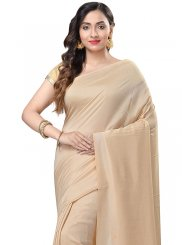 Beige Weaving Pure Chiffon Casual Saree