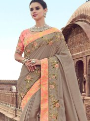 Beige Wedding Designer Traditional Saree