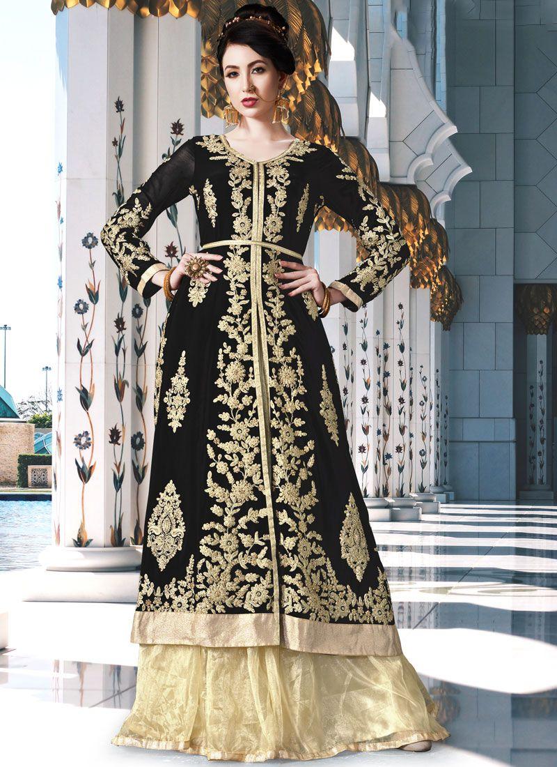 Black Anarkali Salwar Kameez