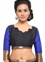 Black and Blue Color Classic Saree