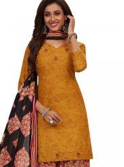 Black and Gold Printed Festival Patiala Salwar Suit