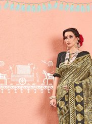 Black and Gold Weaving Classic Saree