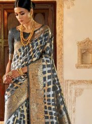 Black and Grey Classic Saree